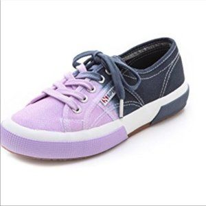 Superga Purple and Gray Ombré Sneakers